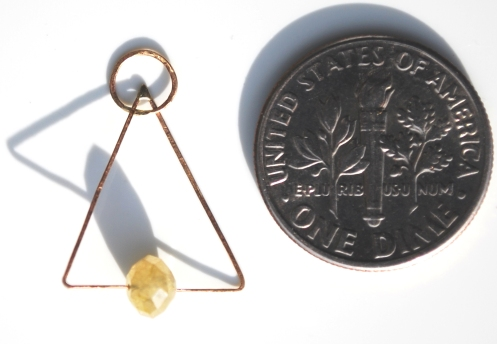 triangle yellow coin pvc